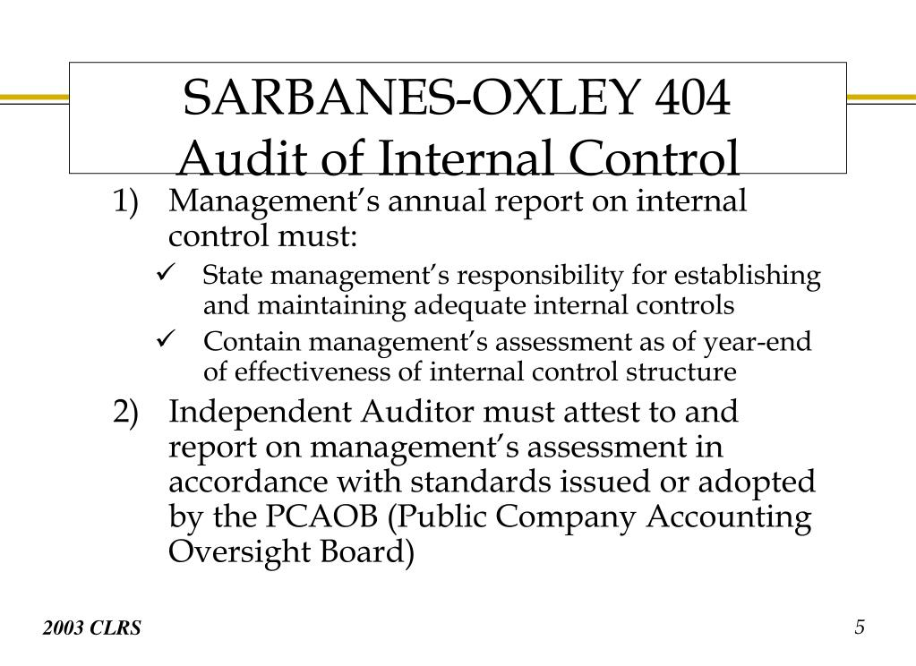 Management's annual report on internal control must: