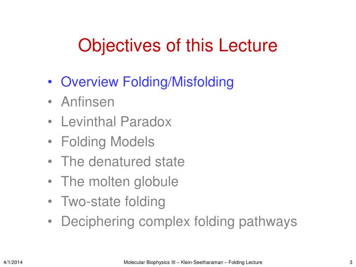 Objectives of this lecture3