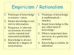 empiricism rationalism