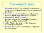 fundamental issues