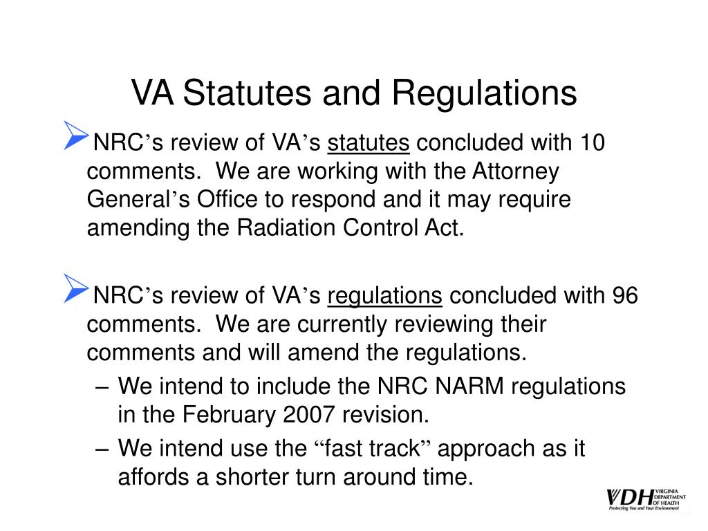 VA Statutes and Regulations