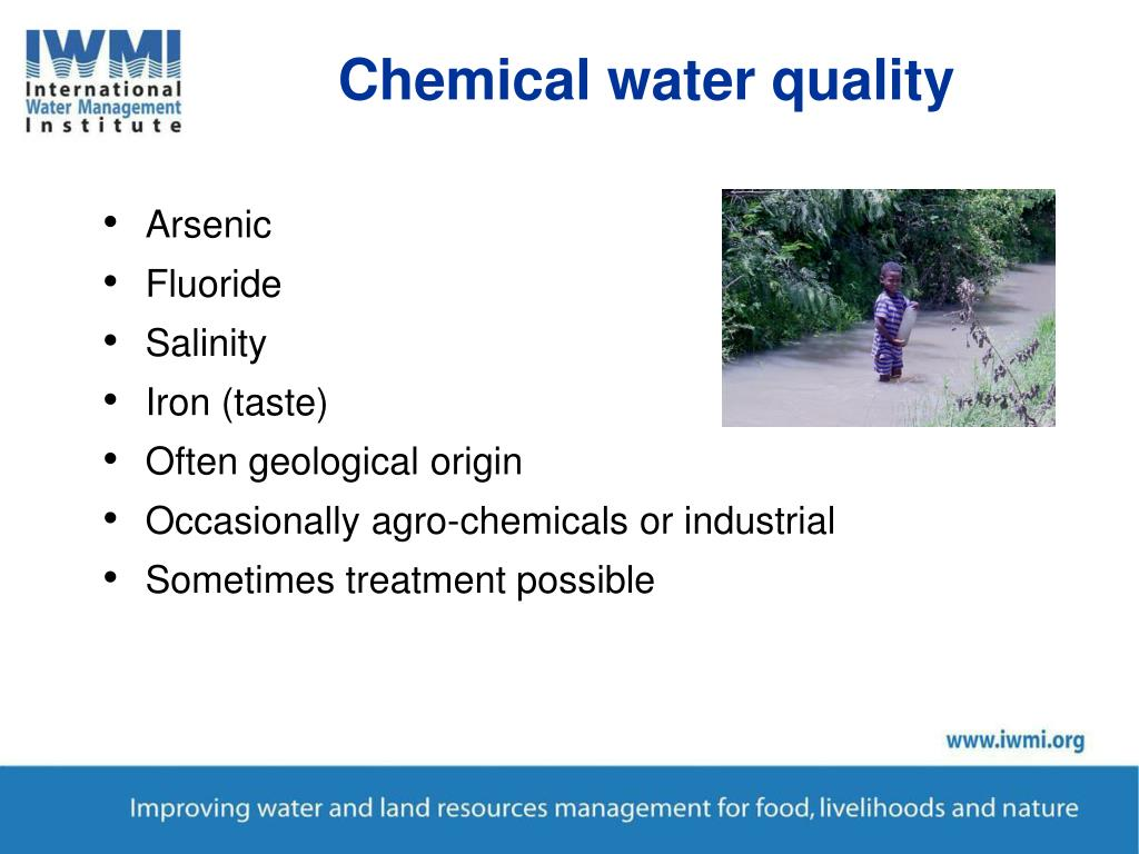 Chemical water quality
