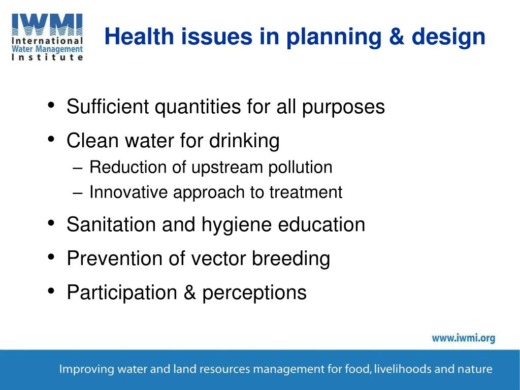 Health issues in planning & design