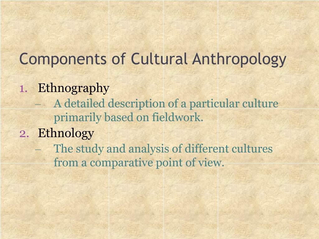 Components of Cultural Anthropology