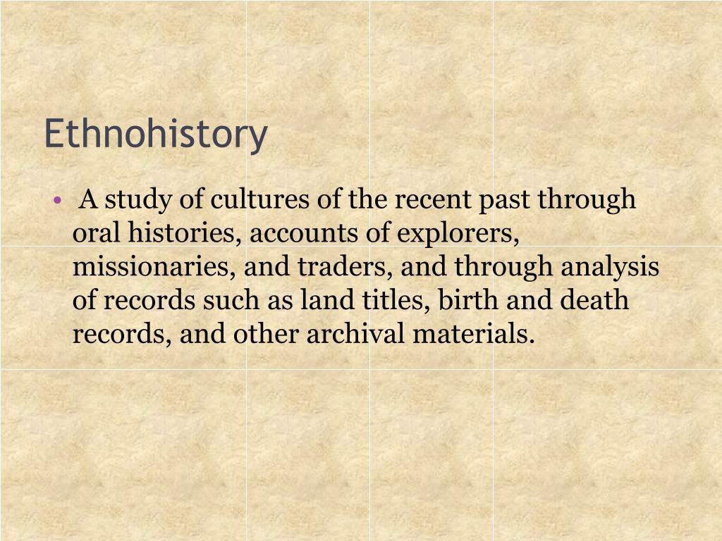 Ethnohistory