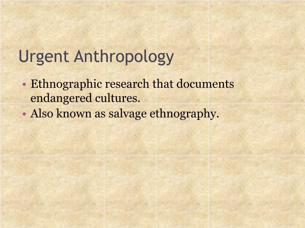 Urgent Anthropology