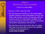 step 4 hold the sales team accountable49