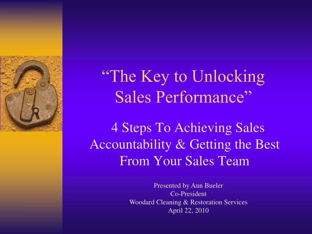 the key to unlocking sales performance l.