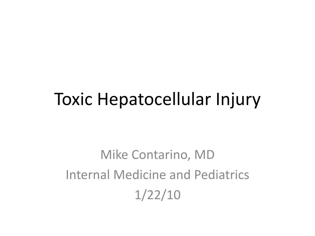 toxic hepatocellular injury l.