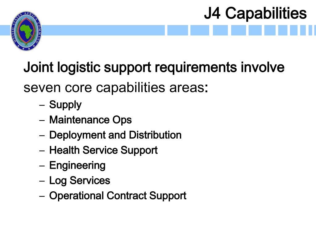 J4 Capabilities