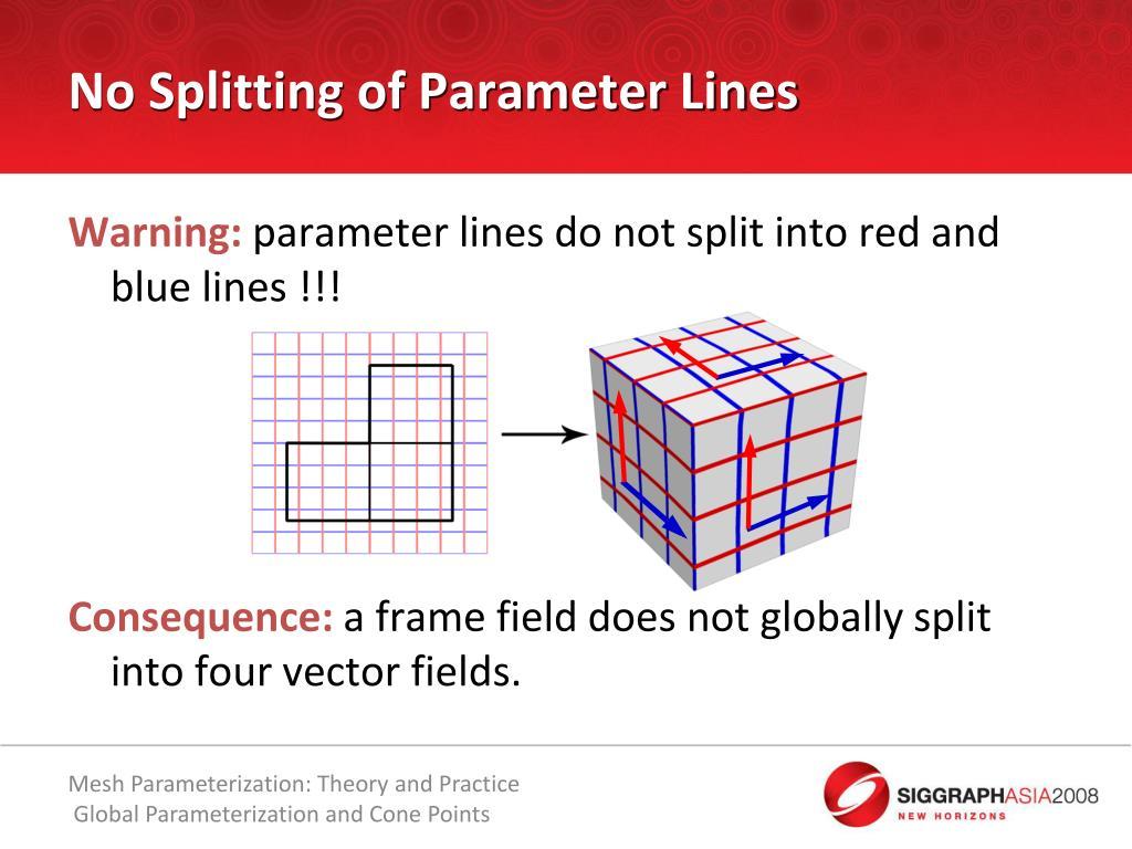 No Splitting of Parameter Lines