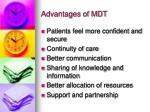 advantages of mdt