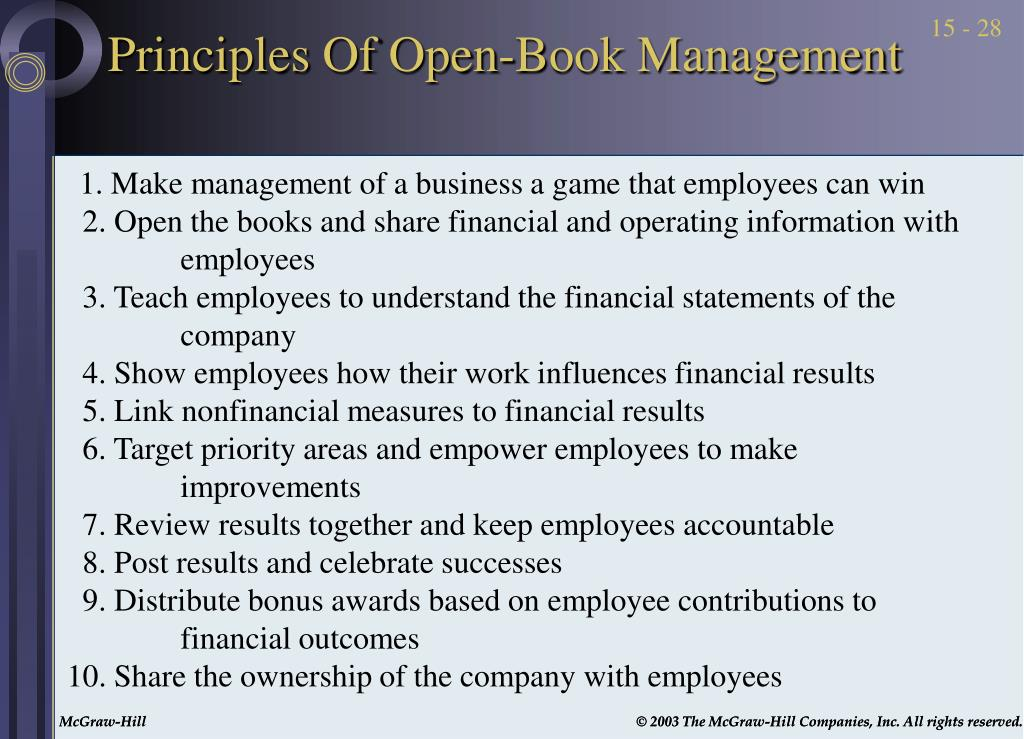 Principles Of Open-Book Management