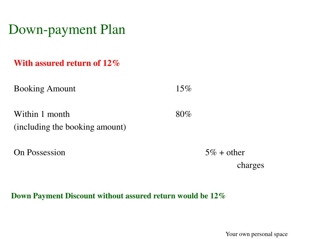 Down-payment Plan