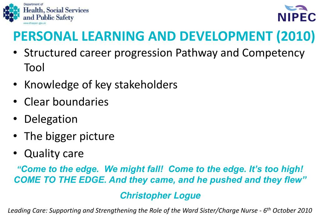 PERSONAL LEARNING AND DEVELOPMENT (2010)