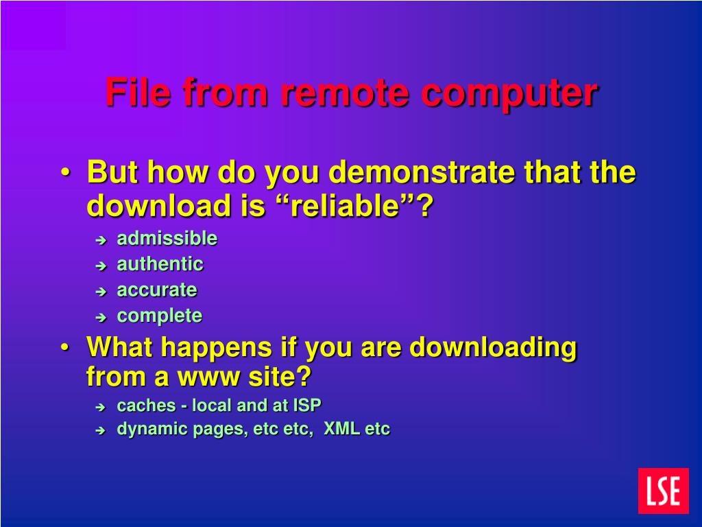 File from remote computer