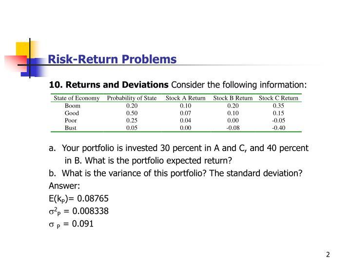 Risk return problems2