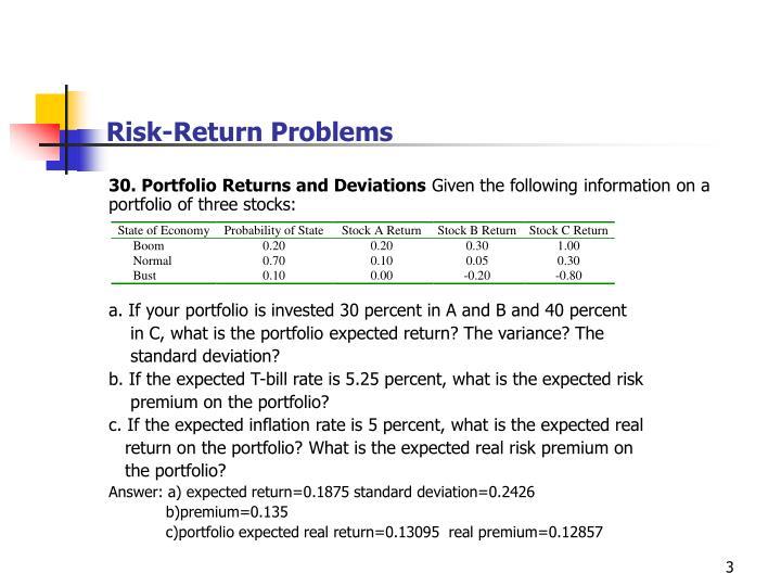 Risk return problems3