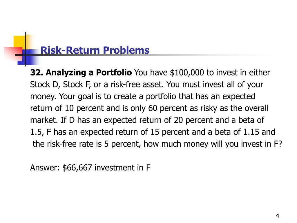 Risk-Return Problems