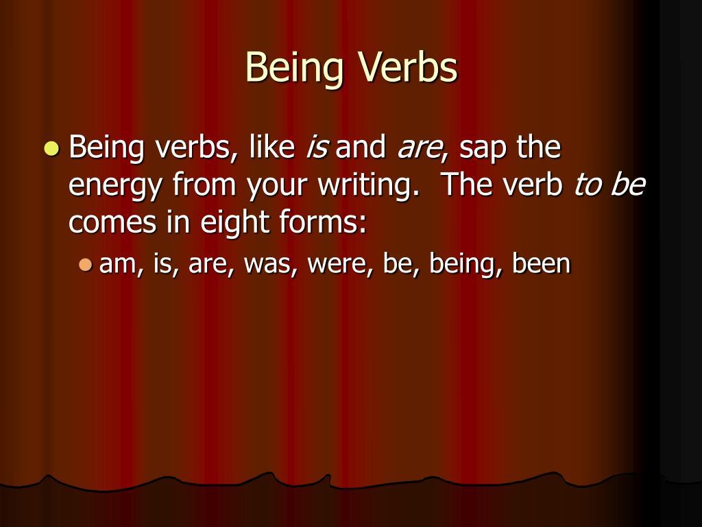 Being Verbs