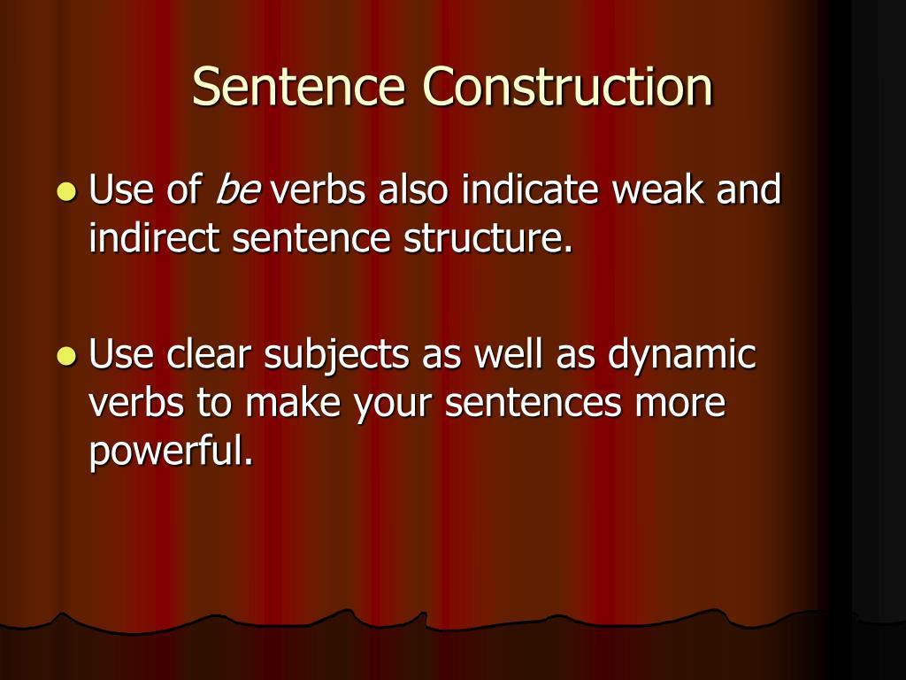 Sentence Construction