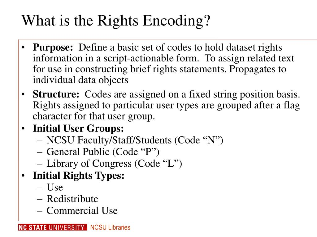 What is the Rights Encoding?
