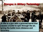 changes in military technology28