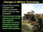 changes in military technology31