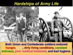 hardships of army life
