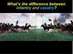what s the difference between infantry and cavalry