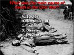 what was the main cause of death in the civil war