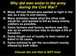 why did men enlist in the army during the civil war19