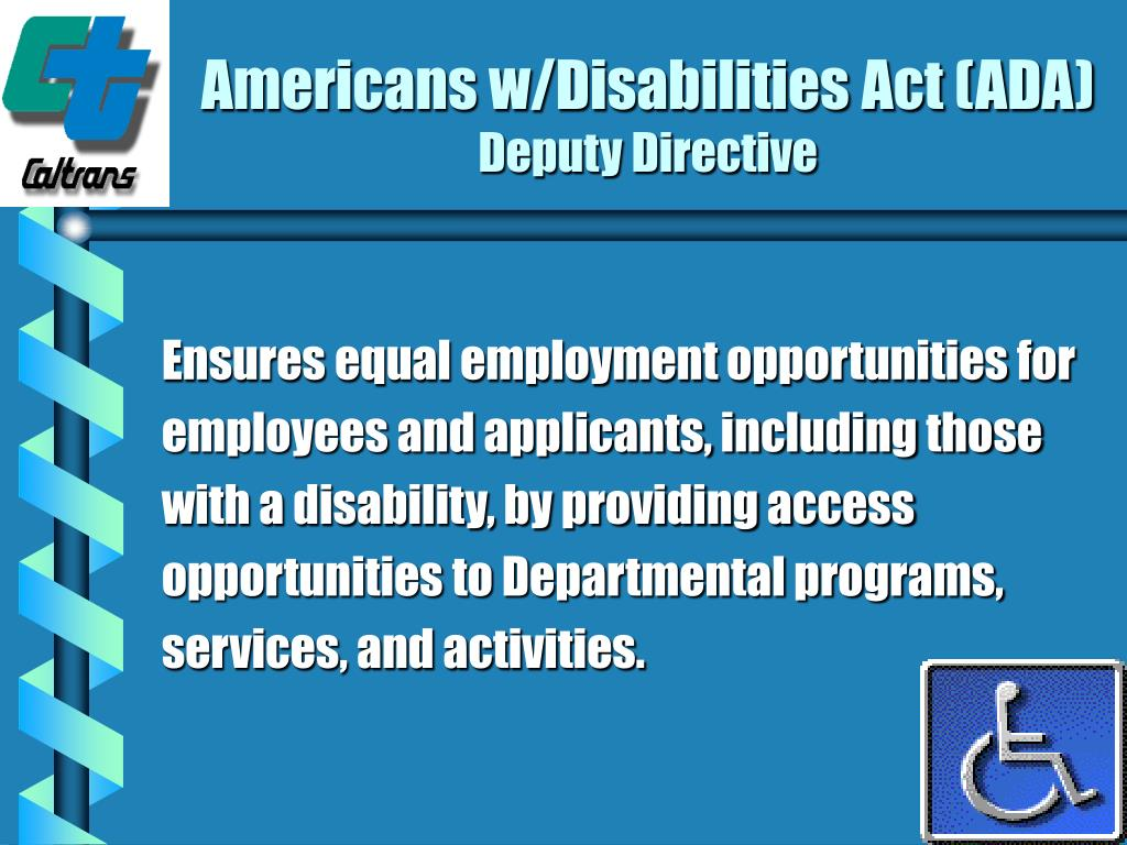 Americans w/Disabilities Act (ADA)