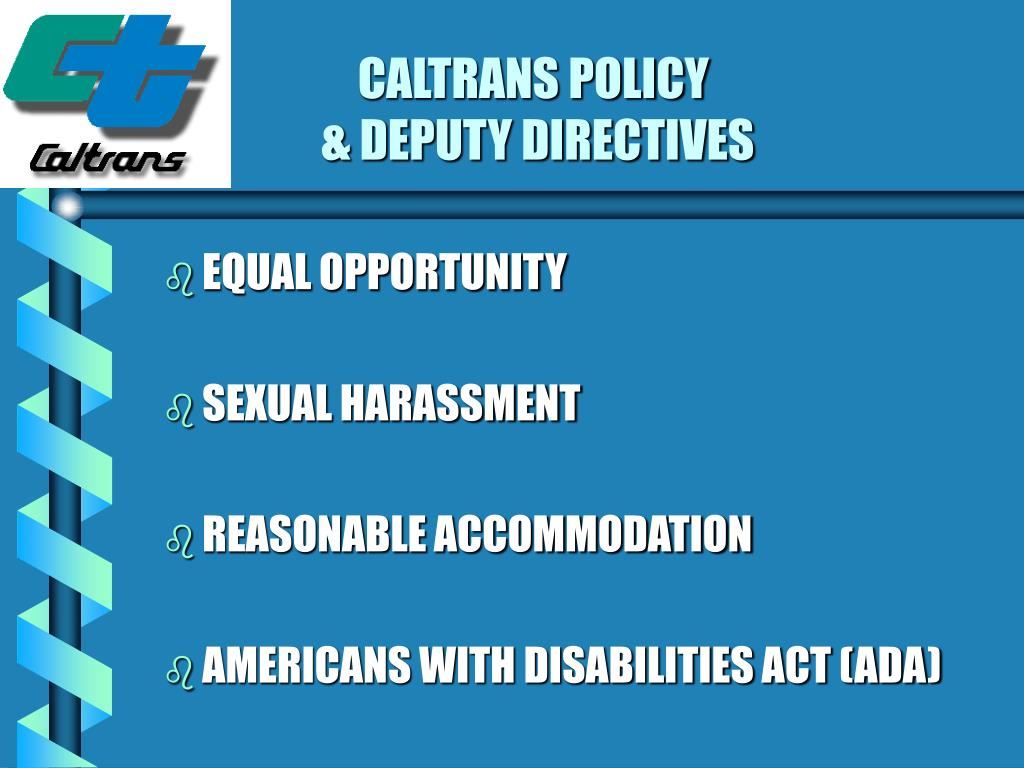 CALTRANS POLICY