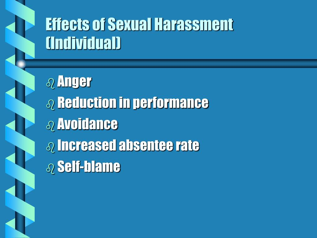 Effects of Sexual Harassment (Individual)