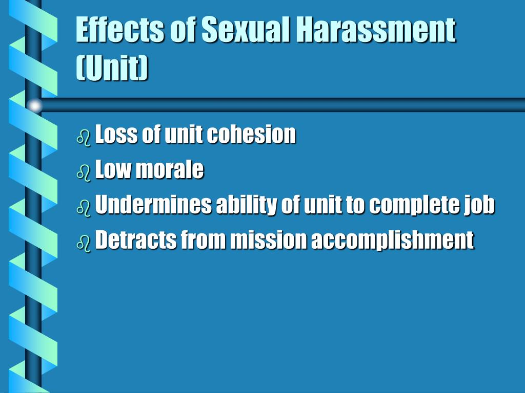 Effects of Sexual Harassment (Unit)