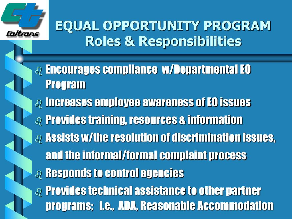 EQUAL OPPORTUNITY PROGRAM