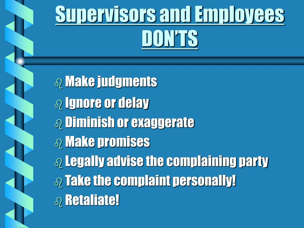 Supervisors and Employees