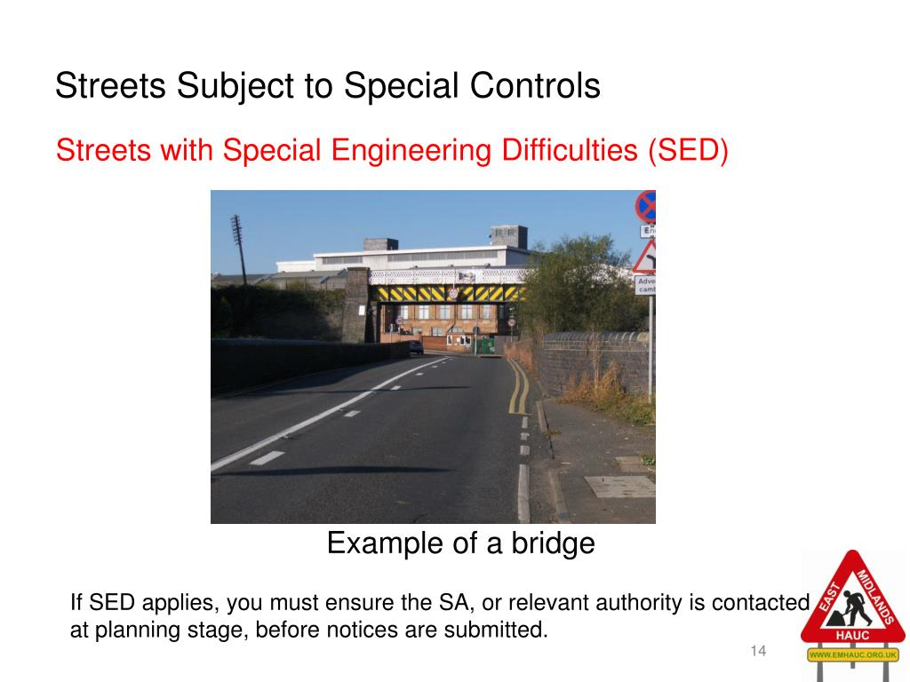 Streets Subject to Special Controls