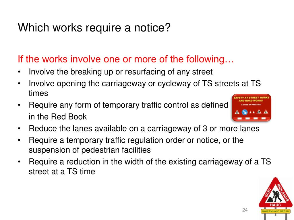 Which works require a notice?