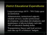 district educational expenditures
