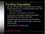funding inequalities