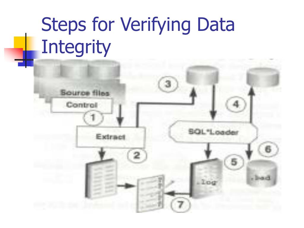 Steps for Verifying Data Integrity