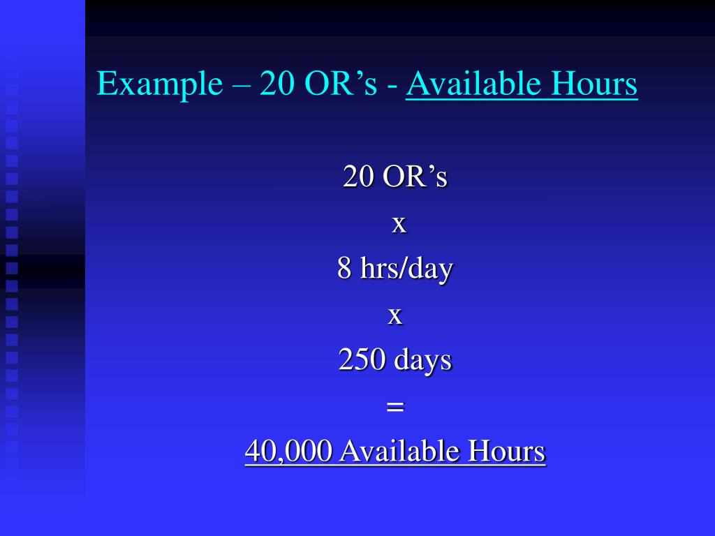 Example – 20 OR's -
