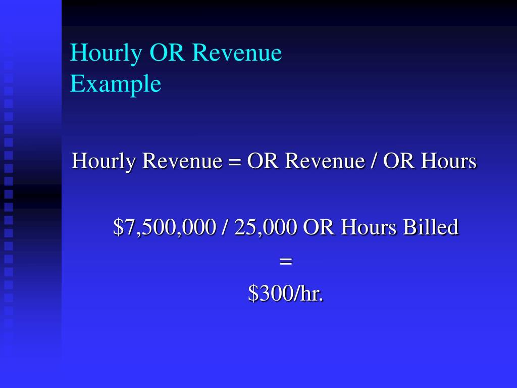 Hourly OR Revenue