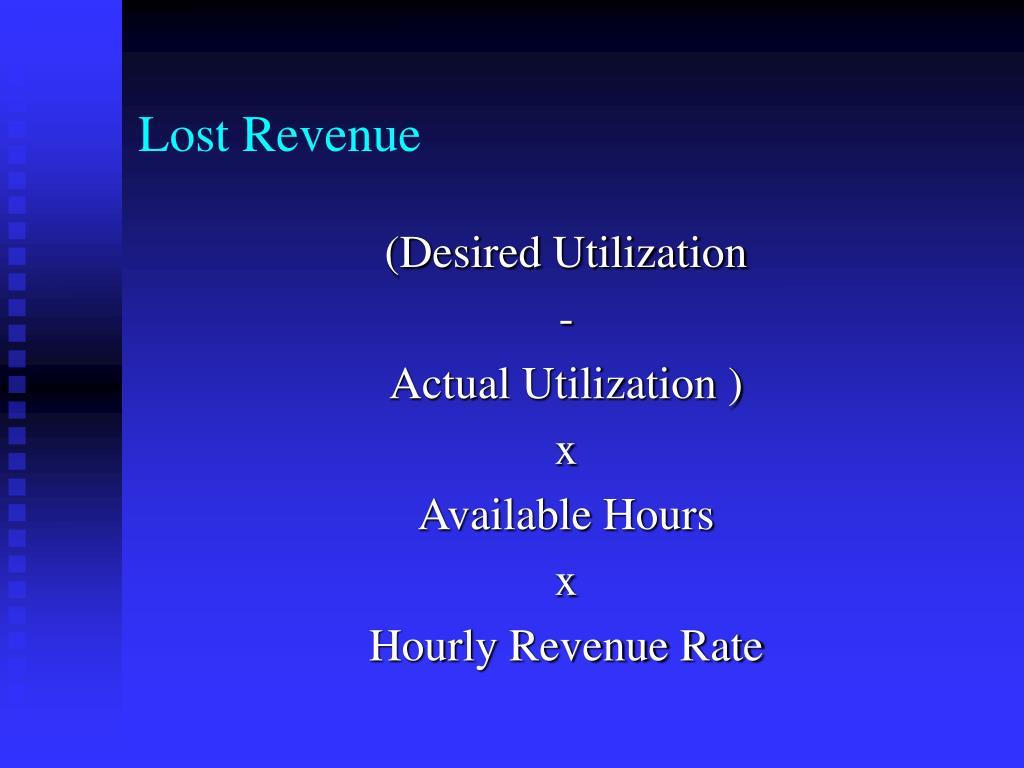 Lost Revenue