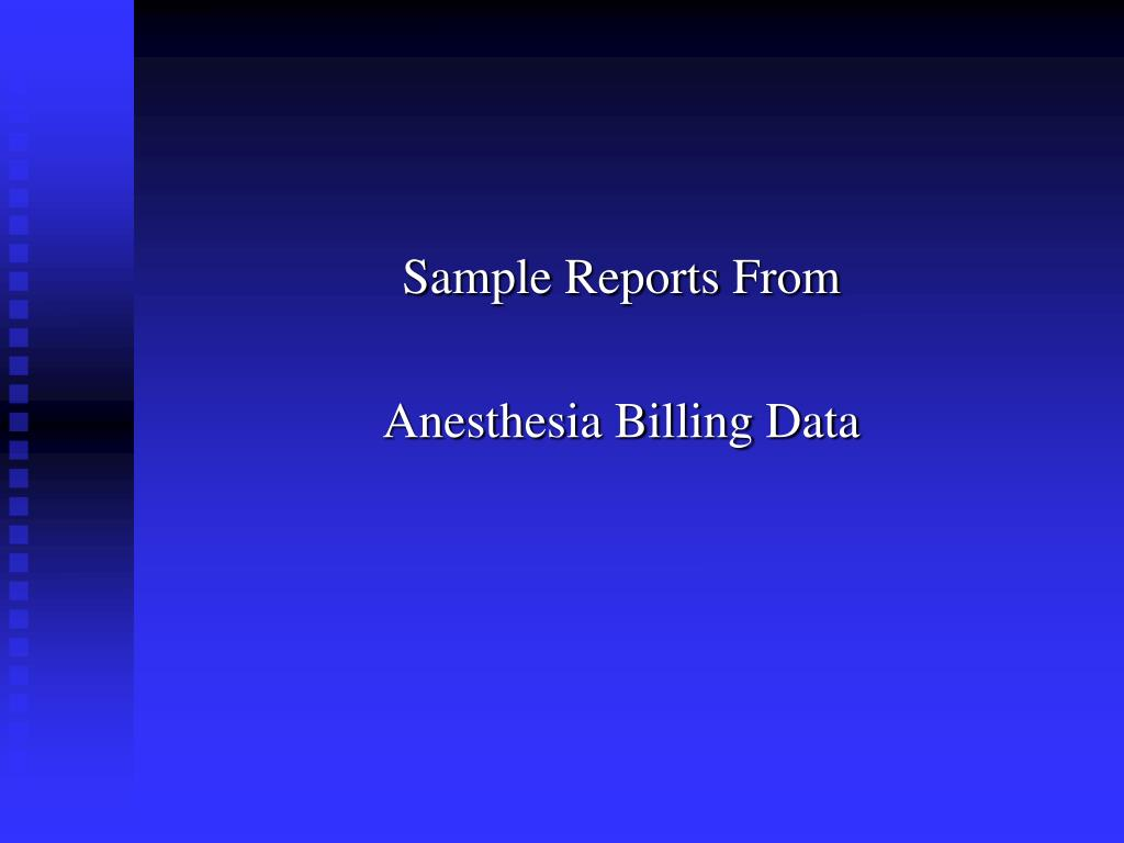 Sample Reports From