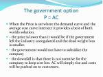 the government option p ac