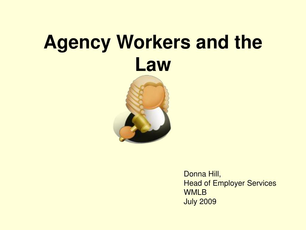 agency workers and the law l.