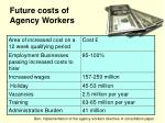 future costs of agency workers